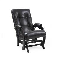 Кресло-качалка глайдер 68 каркас Венге, экокожа Vegas Light Black
