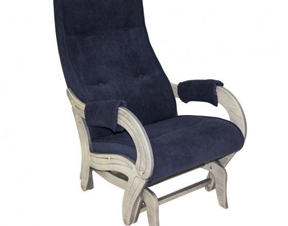 Кресло-качалка глайдер 708 Дуб шампань патина, ткань Verona Denim Blue