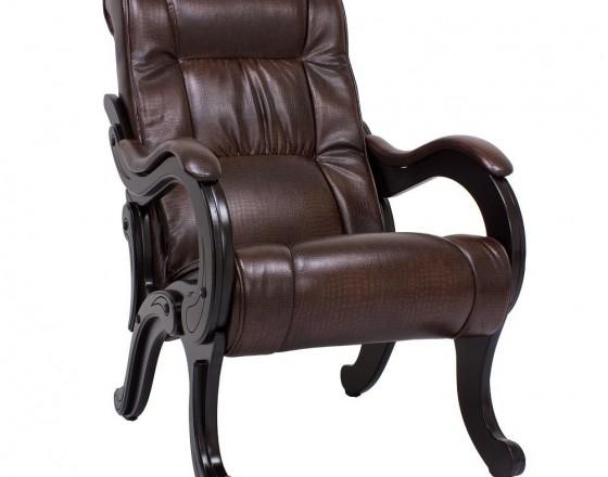 Кресло для отдыха  Модель 71  Венге, к/з Antik crocodile