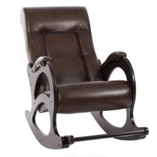 Кресло-качалка с подножкой 44 каркас Венге, экокожа Antik crocodile без лозы