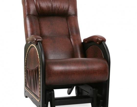 Кресло-качалка глайдер 48 каркас Венге, экокожа Antik crocodile