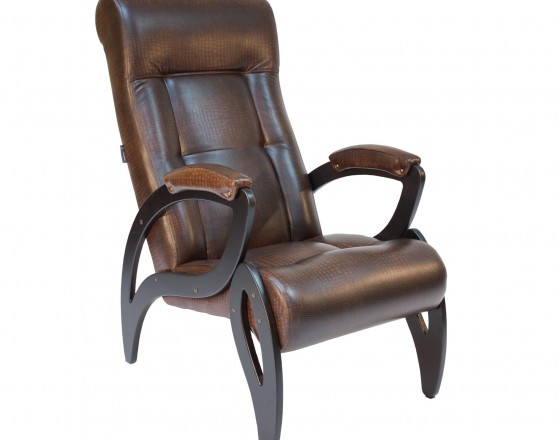 Кресло для отдыха  Модель 51  Венге, к/з Antik crocodile