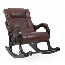 Кресло-качалка с подножкой 77 Венге, экокожа  Antik crocodile