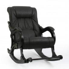 Кресло-качалка  с подножкой 77 Венге, экокожа Dundi 108