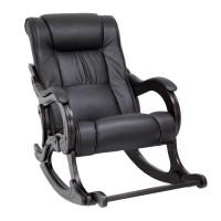 Кресло-качалка с подножкой 77 Венге, экокожа Dundi 109