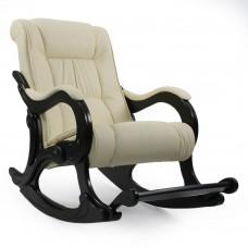 Кресло-качалка  с подножкой 77  Венге, экокожа Dundi 112