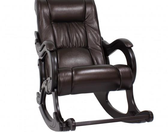 Кресло-качалка с подножкой 77  Венге, экокожа Oregon perlamutr 120