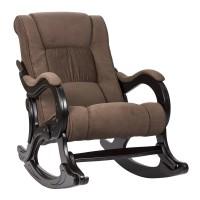 Кресло-качалка с подножкой 77  Венге, ткань Verona Brown
