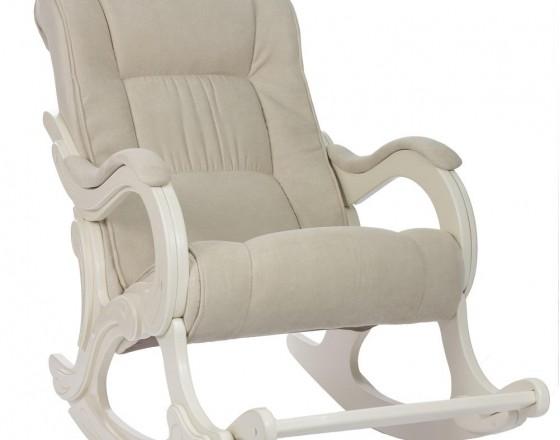 Кресло-качалка с подножкой 77  Дуб шампань, ткань Verona Vanilla