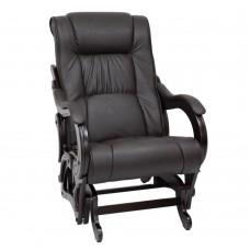 Кресло-качалка глайдер 78 каркас Венге, экокожа Dundi 108