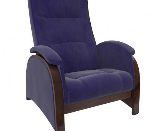 Кресло-глайдер Balance-2 каркас Орех/шпон, ткань Verona Denim Blue
