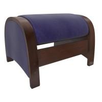Пуф-глайдер МИ Модель Balance 2, Орех/шпон, ткань Verona Denim Blue