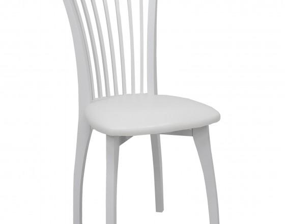 Стул Leset Орегон МИ, Белый RAL 9003, обивка к/з Селена белый ИК32.03