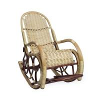 Кресло-качалка плетеное с подножкой из лозы. Калитва, орех