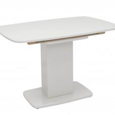 Стол раздвижной Leset Денвер 1Р МИ, Белый лак, стекло Белое