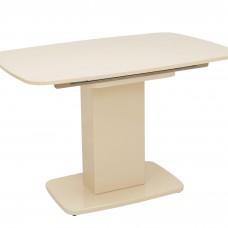 Стол раздвижной Leset Денвер 1Р МИ, Капучино лак, стекло Капучино