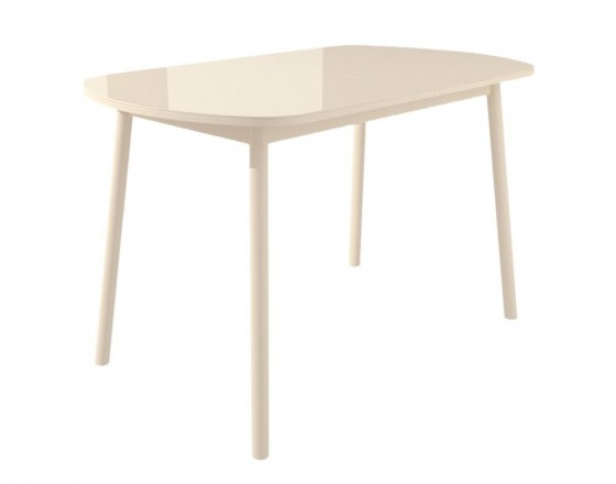 Стол раздвижной Leset Мидел МИ, металл Кремовый, стекло Кремовое