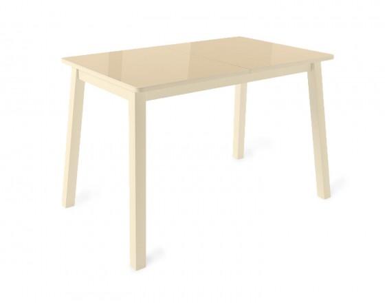 Стол раздвижной Leset Морон МИ, металл Кремовый, стекло Кремовое