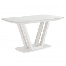 Стол раздвижной Leset Каби МИ, металл Белый, стекло Белое