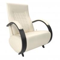 Кресло-глайдер Balance-3 с накладками, Венге/шпон, экокожа Dundi 112