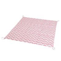 Стеганый игровой коврик Pink Zigzag