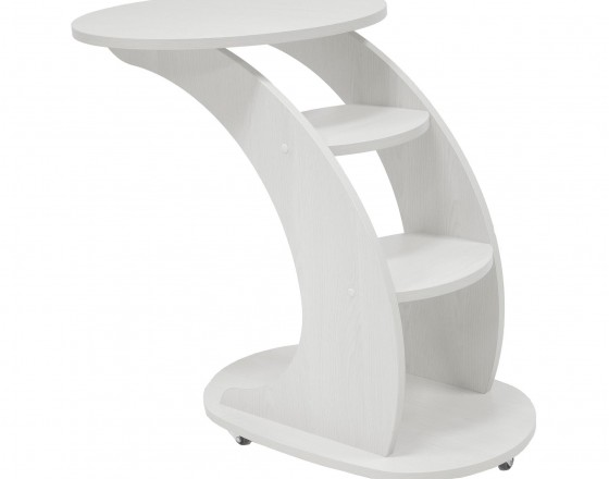 """Подкатной придиванный столик """"Стелс"""",  Молочный дуб"""