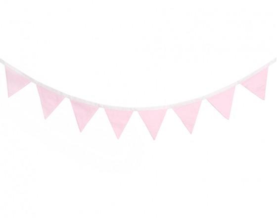 Гирлянда из флажков Simple Pink