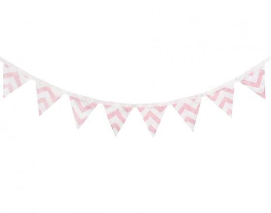 Гирлянда из флажков Pink Zigzag