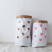 Эко-мешок для игрушек из крафт бумаги Small Hearts