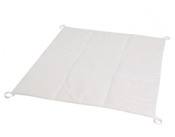 Стеганый игровой коврик Simple White