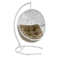 Подвесное кресло LUNAR, Каркас белый, подушка темно - бежевая