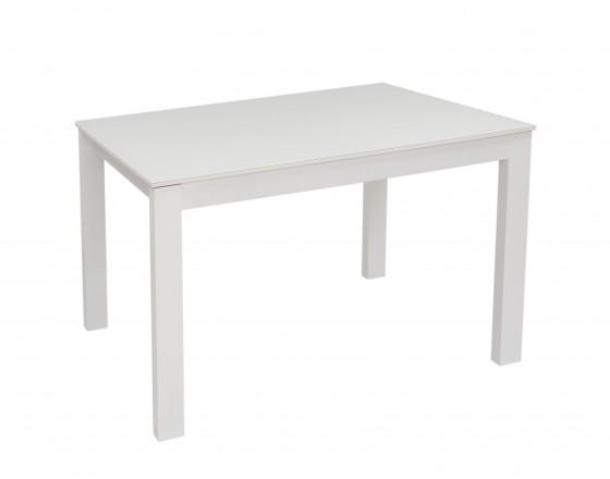 Стол раздвижной Leset Делавэр 1Р МИ, Белый, стекло Белое