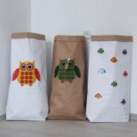 Эко-мешок для игрушек из крафт бумаги Funky Owl