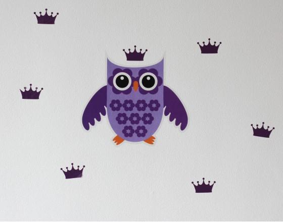 Декоративная наклейка Violet Owl