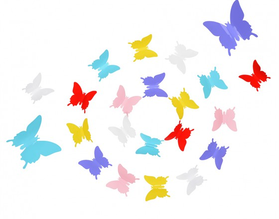 Комплект 3D наклеек Butterflies