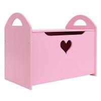 Детский сундук для игрушек розовый с сердечком