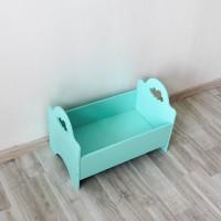 Кроватка для куклы бирюзовая (образец с витрины)