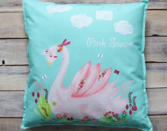 Подушка Pink Swan