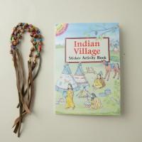 Книга с наклейками Индейская Деревня