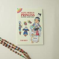 Книга с наклейками Индейская Принцесса
