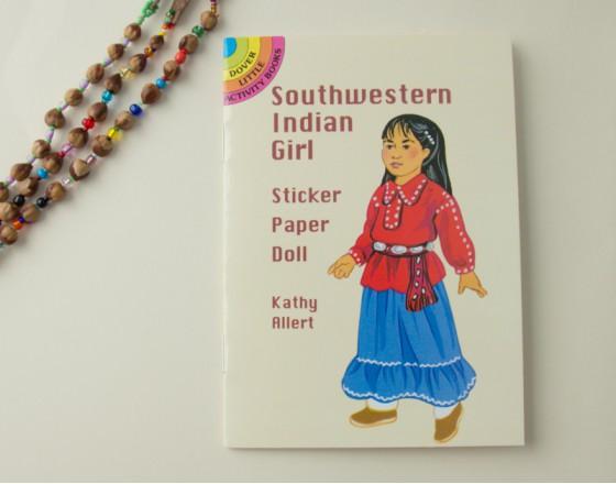 Книга с наклейками Юго-Западная Индейская Девушка