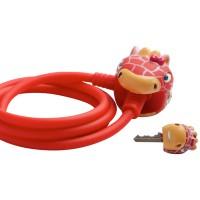 Замок велосипедный Red Giraffe (Красный Жираф) Crazy Safety