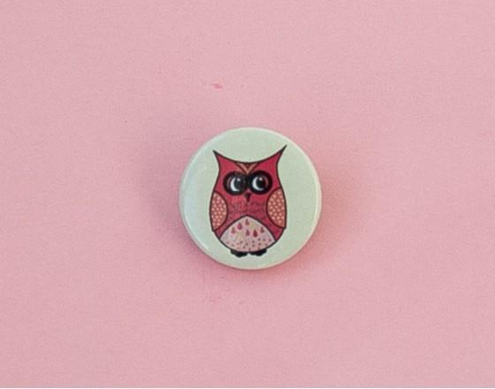 Значок Pink Owl