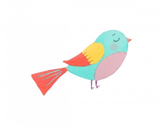 Декоративная наклейка Птичка