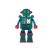 Декоративная наклейка Robot Martin