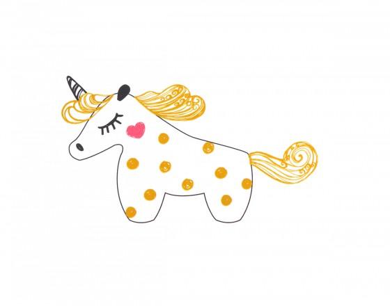 Декоративная наклейка Gold Unicorn