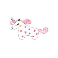 Декоративная наклейка Pink Unicorn