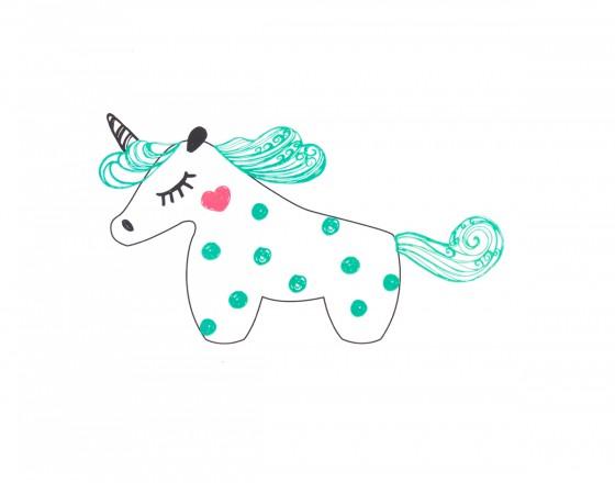 Декоративная наклейка Mint Unicorn