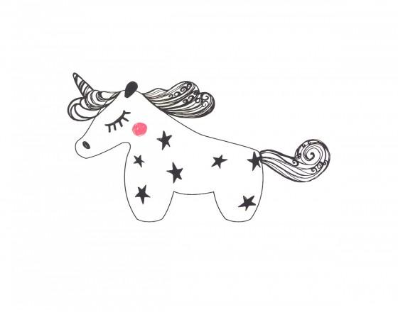 Декоративная наклейка Black Unicorn