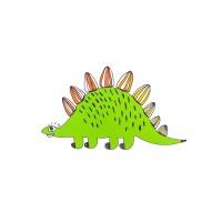 Декоративная наклейка Стегозавр